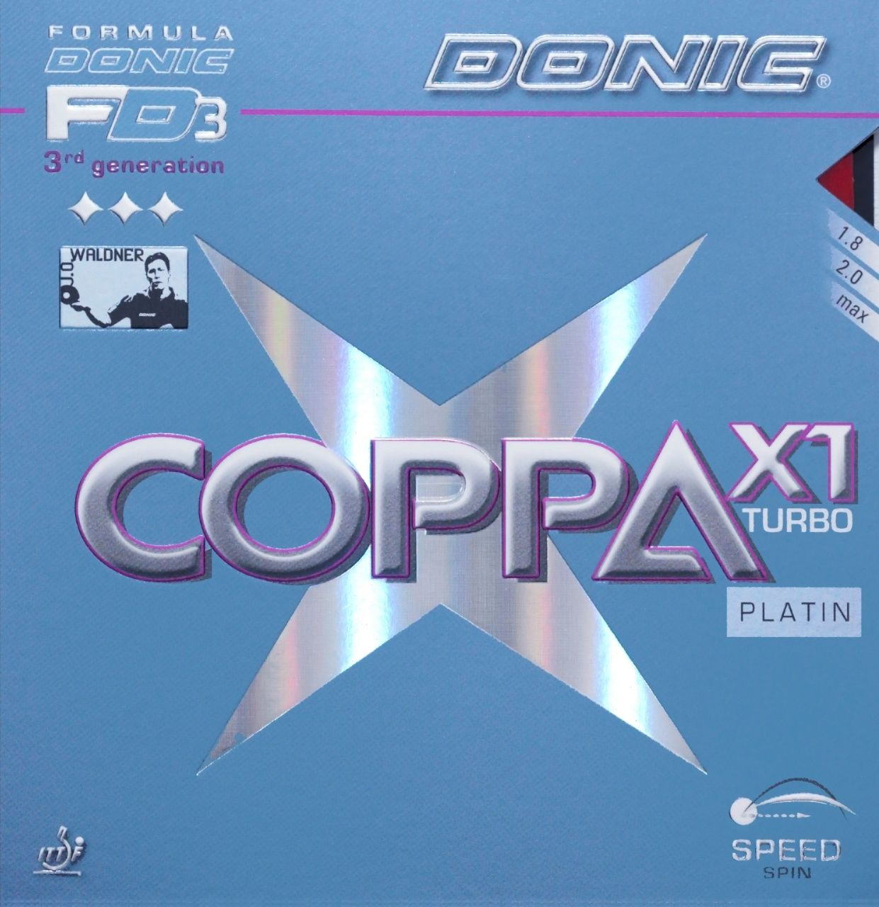 Накладка DONIC Coppa X1 Turbo (Platin)
